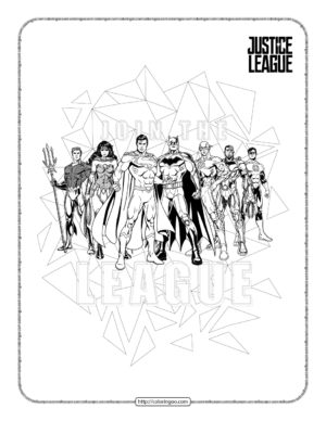 Printables Justice League Heroes Coloring Page