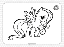 A Sweet Pony Fluttershy Pdf Coloring Page