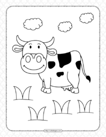 Cow Pdf Coloring Pages