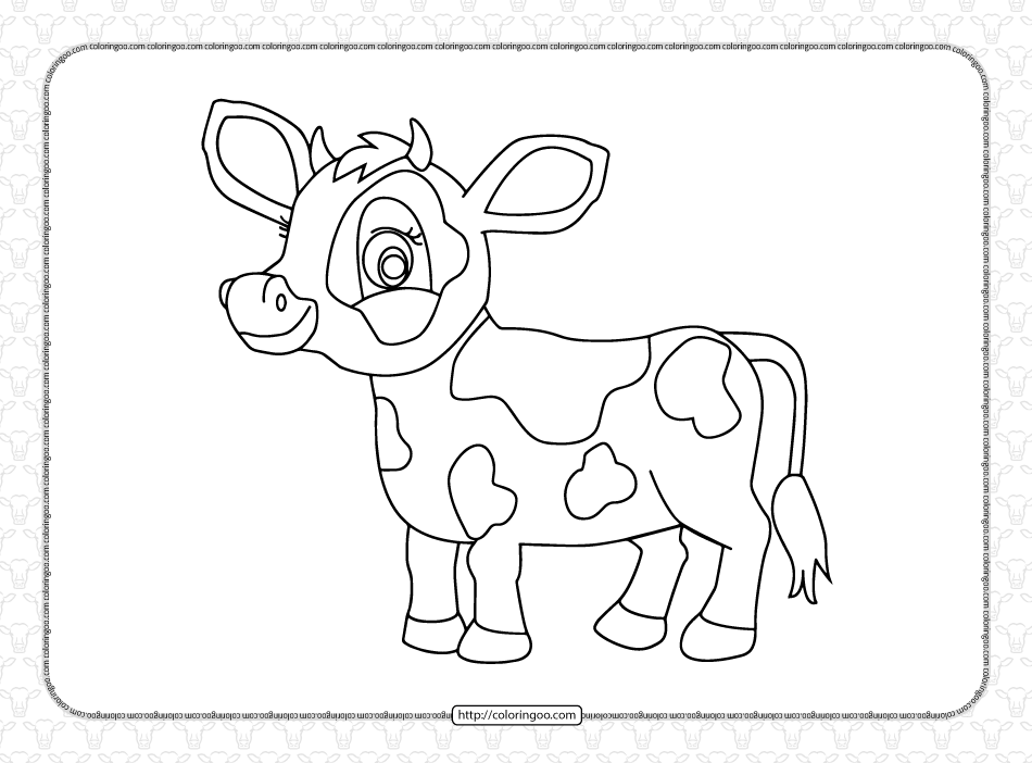 Free Printable Cow Coloring Page