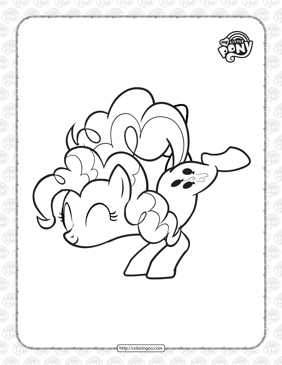 Free Printable MLP Pinkie Pie Coloring Page