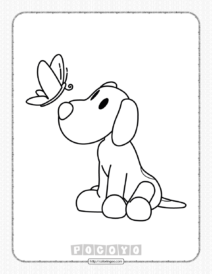 Free Printable Pocoyo Loula Coloring Pages for Kids
