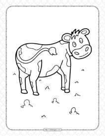 Funny Cow Coloring Page
