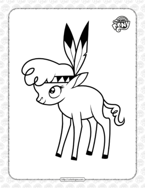 MLP Little Strongheart Pdf Coloring Page