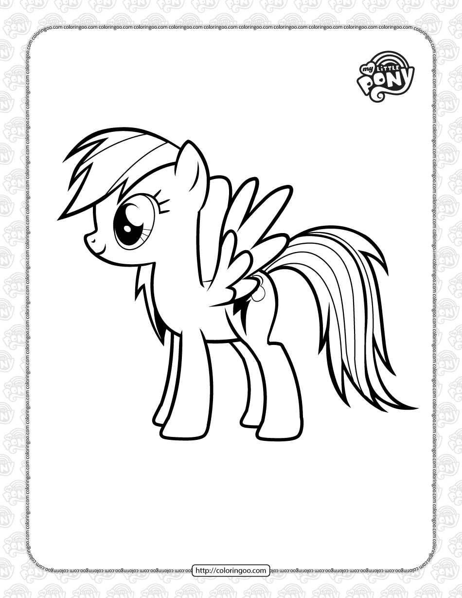 MLP Rainbow Dash Pdf Coloring Pages