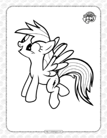 MLP Rainbow Dash Ready to Fly Coloring Page