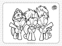 MLP The Show Stoppers Pdf Coloring Page