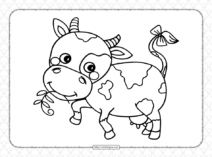 Printable Cow Coloring Pages