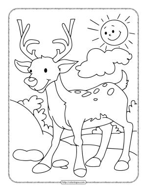 Printable Deer Coloring Page