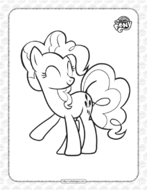Printable MLP Pinkie Pie Coloring Page for Girls