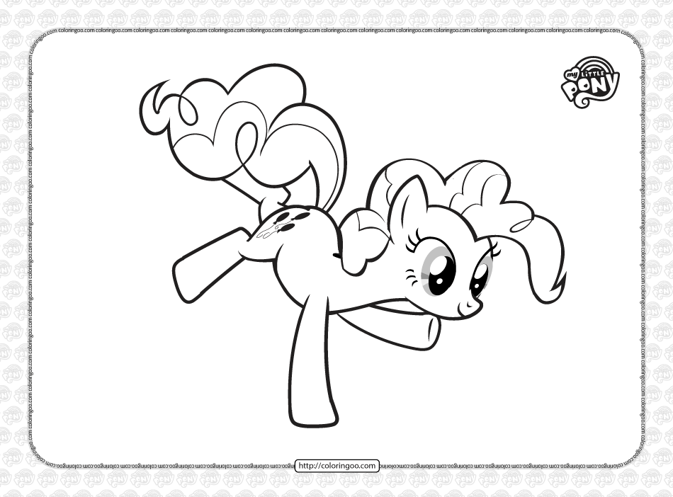 Printable MLP Pinkie Pie Coloring Page for Kids