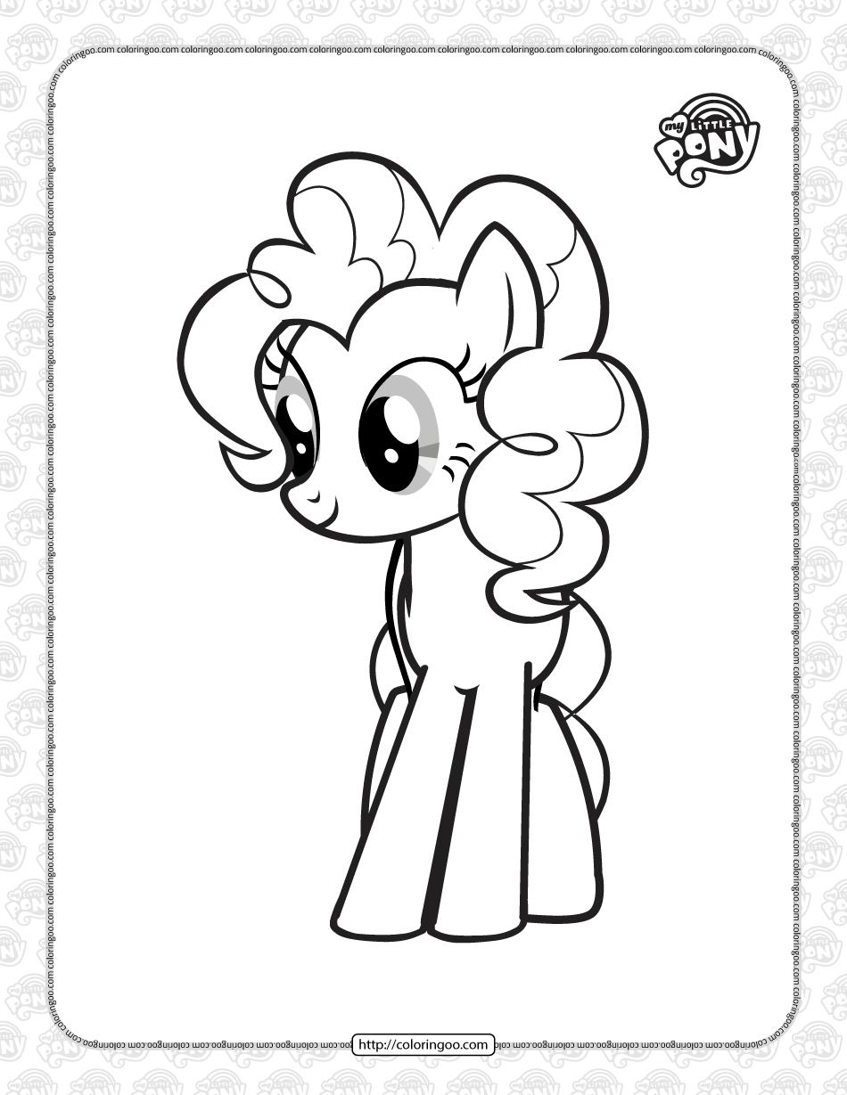 Printable MLP Pinkie Pie Pdf Coloring Page