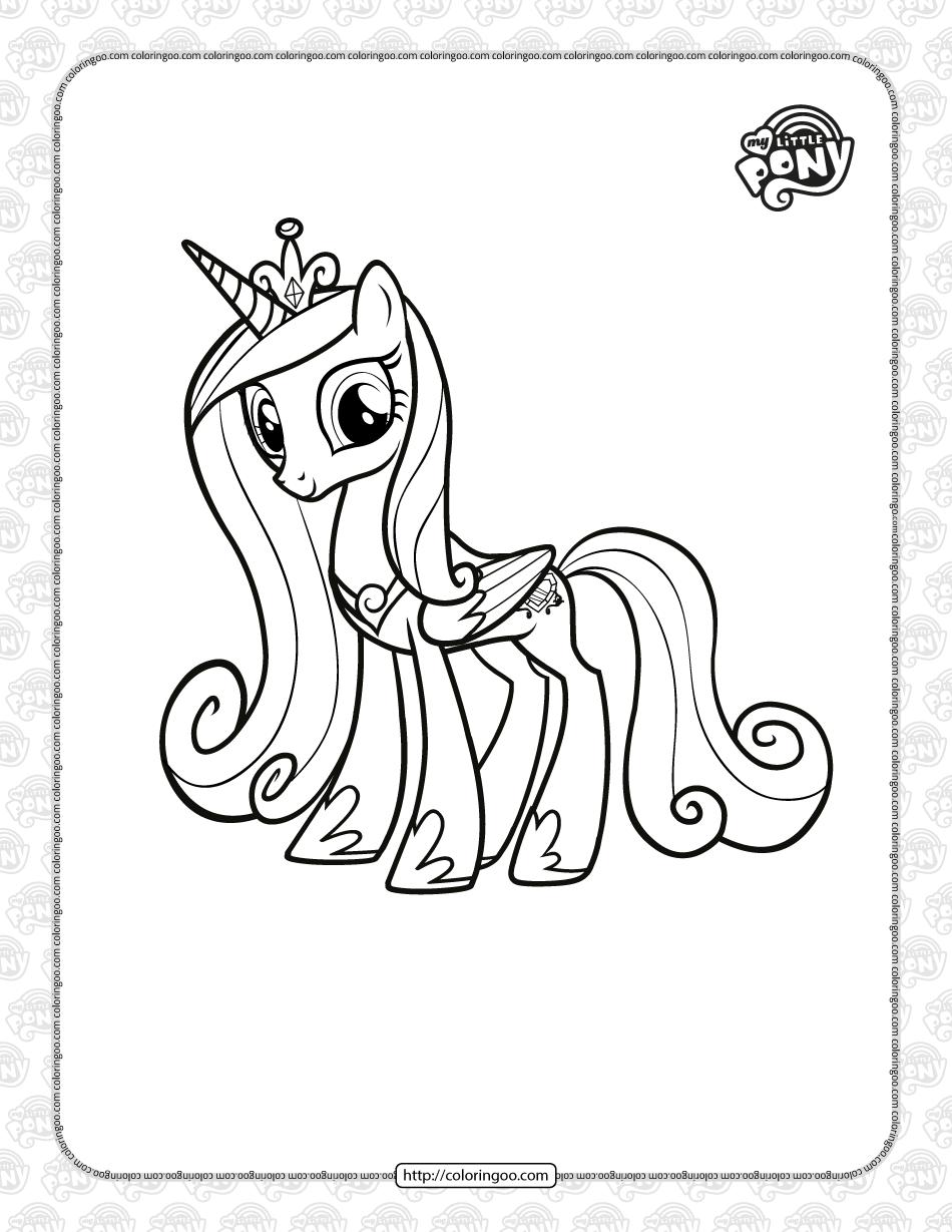 Printable MLP Princess Cadance Coloring Page