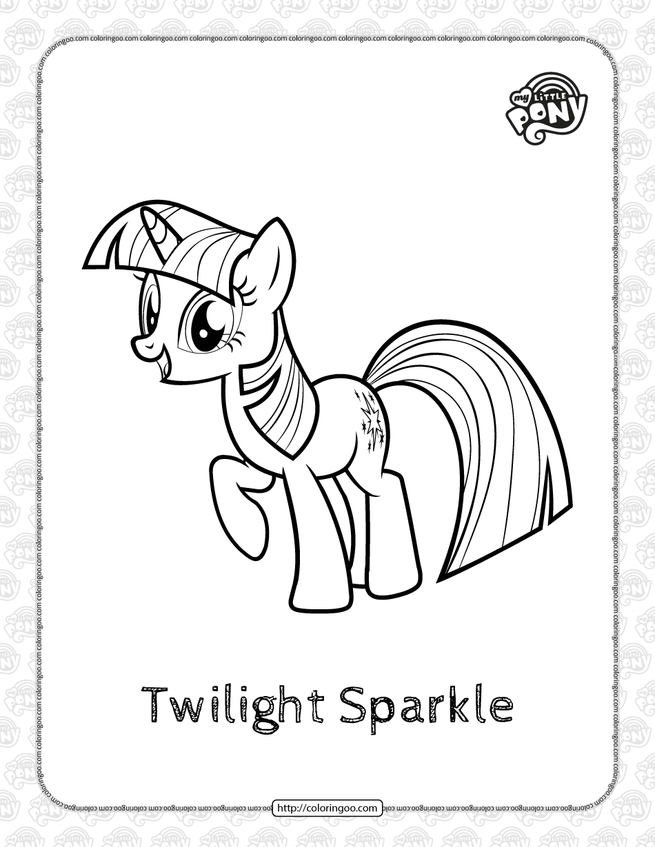 Printable MLP Twilight Sparkle Coloring Page