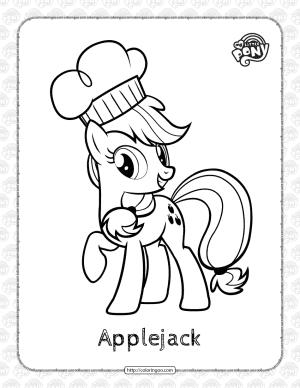 Printable My Little PonyApplejack Coloring Page