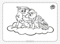 Printable My Little Pony Griffon Coloring Page