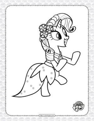 Printable My Little Pony Rarity Coloring Page
