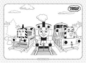 Printables Thomas and Friends Pdf Coloring Sheets