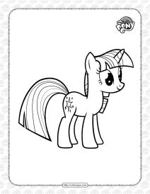 Printable Twilight Sparkle Pdf Coloring Page