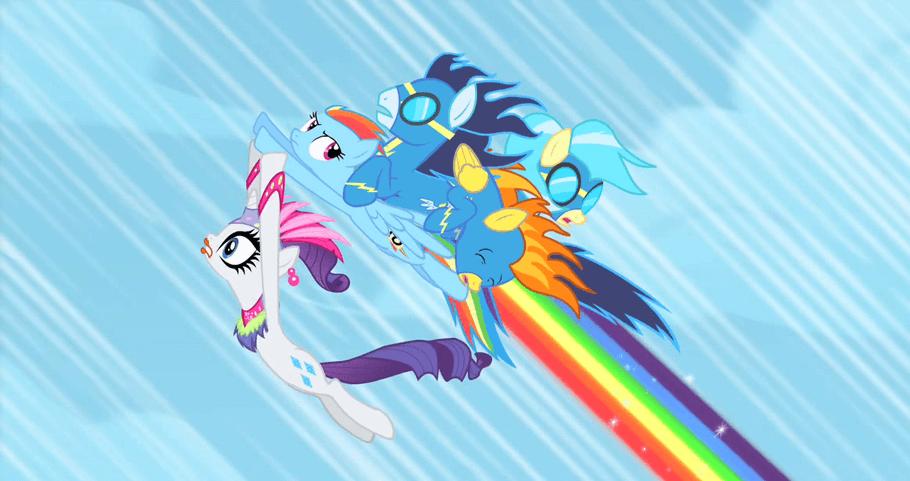 Printable MLP Sonic Rainboom Coloring Page