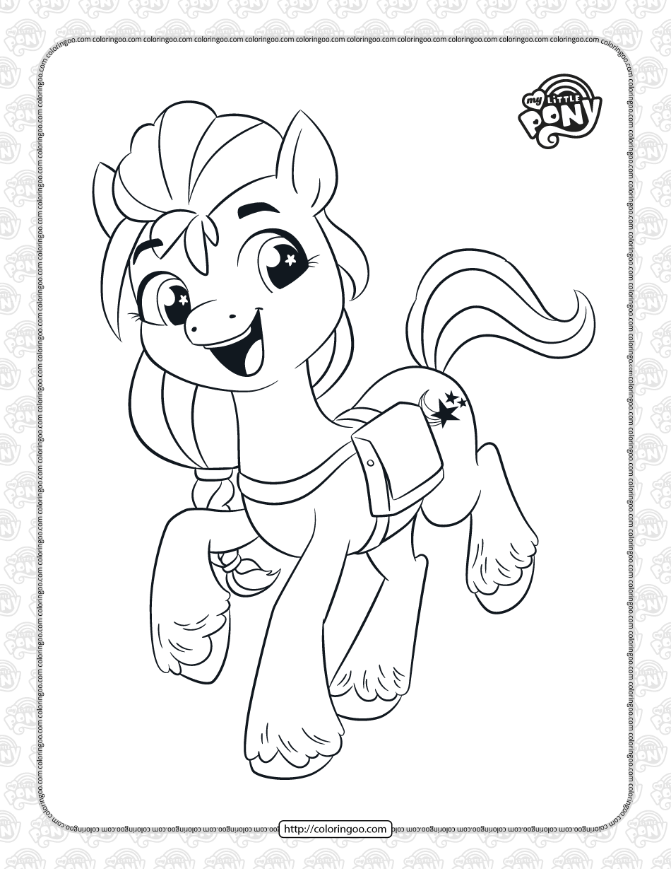 A New Generation Sunny Starscout Coloring Page