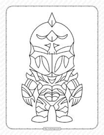Chibi Fortnite Skins Pdf Coloring Pages
