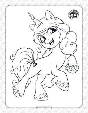 Cute Pony Izzy Moonbow Coloring Pages
