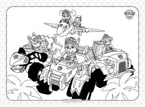 Free Paw Patrol Dino Vehicles Pdf Coloring Book