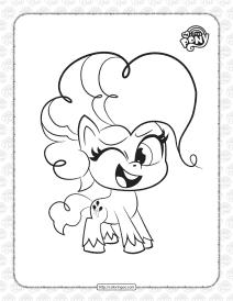 Free Pony Life Pinkie Pie Pdf Coloring Book