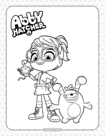 Printable Abby Hatcher Pdf Coloring Book
