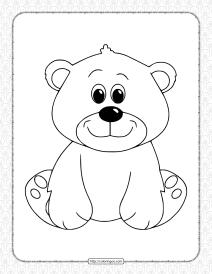 Free Printable Bear Pdf Coloring Book
