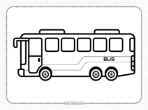 Free Printable Bus Coloring Page