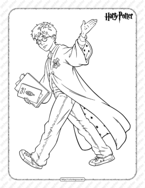 Free Printable Harry Potter Pdf Coloring Book