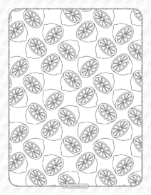 Free Printable Lemon Pattern Pdf Worksheet