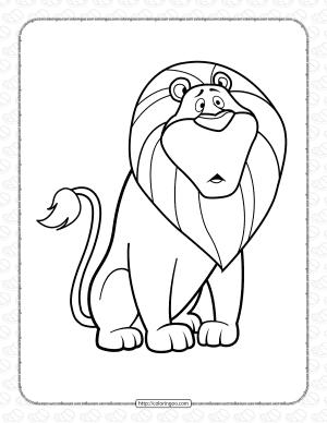 Free Printable Lion Pdf Coloring Book