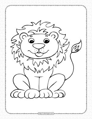 Free Printable Lion Pdf Coloring Page