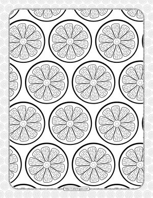 Free Printable Orange Slice Coloring Page