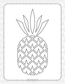 Free Printable Pineapple Pdf Coloring Book