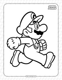Free Printable Super Mario Bros Pdf Coloring Book
