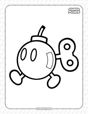 Free Super Mario Bombette Coloring Page