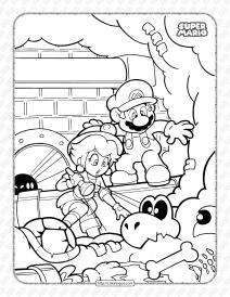 Free Super Mario Pdf Coloring Book for Kids