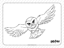 Harry Potter Hedwig Pdf Coloring Page
