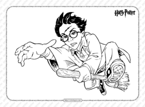 Harry Potter's Broomstick Pdf Coloring Page