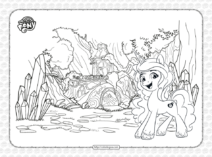 MLP Bridlewood Forest Coloring Page