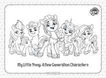MLP G5 Characters Pdf Coloring Pages
