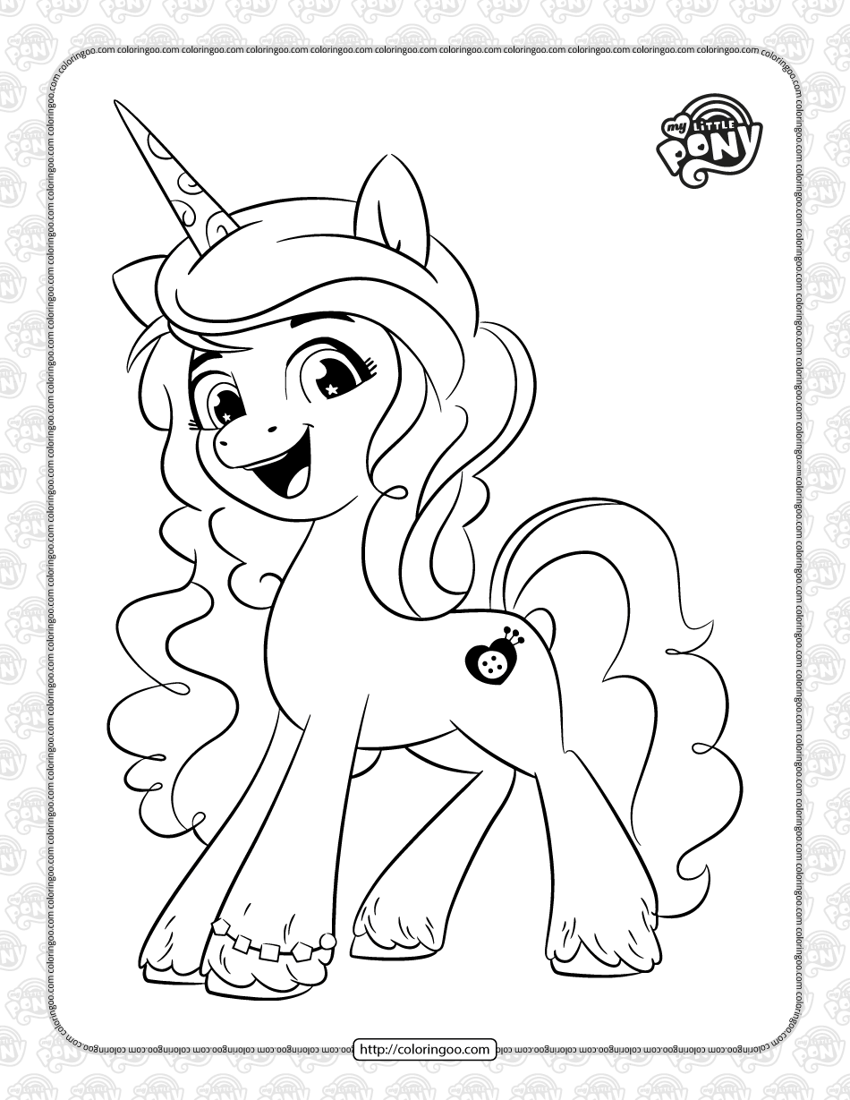 MLP Izzy Moonbow Pdf Coloring Page