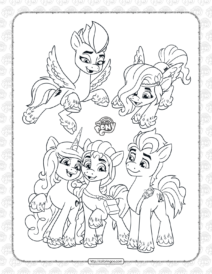 MLP New Generation Characters Coloring Page