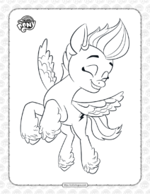MLP Zipp Storm Coloring Pages for Kids