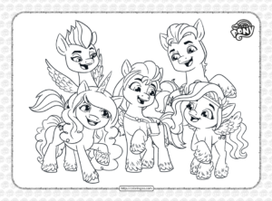 My Little Pony G5 Characters Coloring Pages
