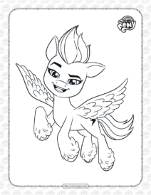 My Little Pony Zipp Storm Coloring Pages